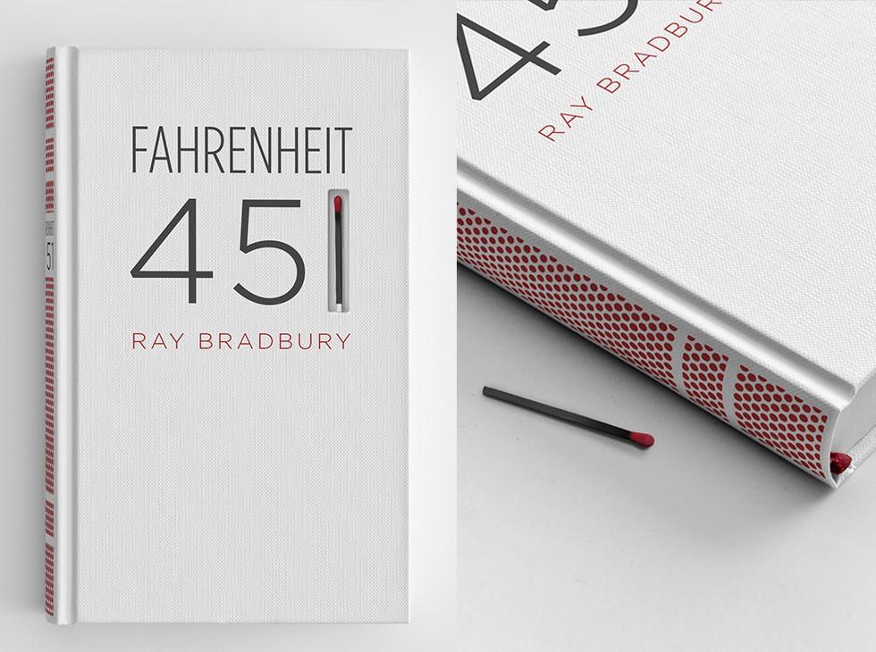 451 stopni Fahrenheita z możliwością spalenia książki (zapałka + draska na grzbiecie)