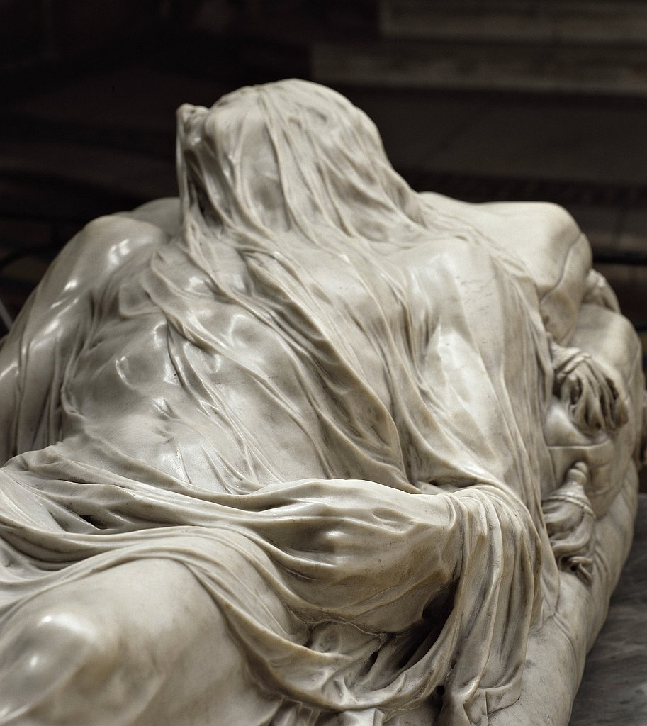 Chrystus w całunie (autor: Giuseppe Sanmartino)