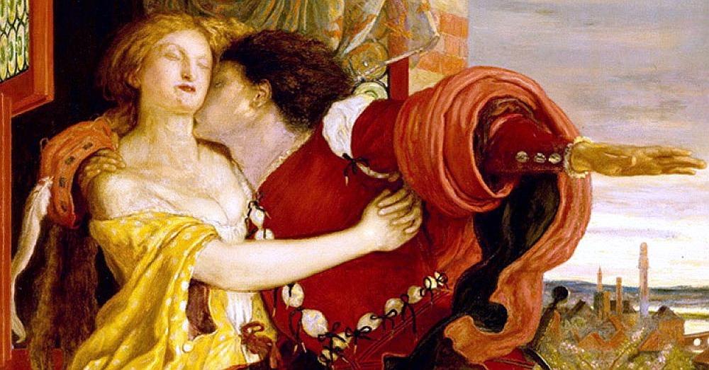 """Obraz """"Romeo i Julia"""" Forda Madoksa Browna posłużył za okładkę jednego ze współczesnych wydań."""