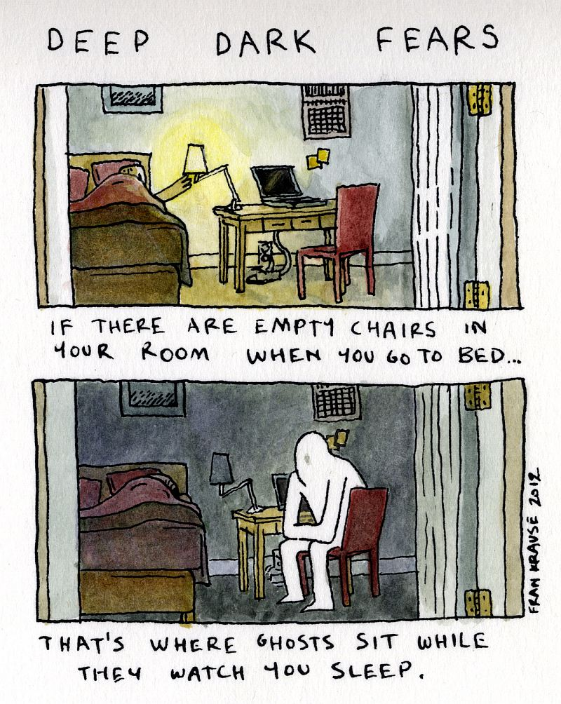 Jeśli w pokoju w sypialni znajdują się puste krzesła, to właśnie na nich siadają duchy, by patrzeć jak śpisz.
