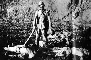 Japoński żołnierz w Nankinie