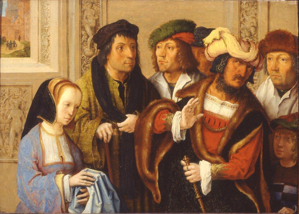 """""""Żona Putyfara"""", Lucas van Leyden, 1512"""