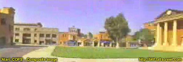 """W 1994 plac i gmach sądu pojawiły się w grze arcade """"Cops"""" wydaną przez firmę Atari"""