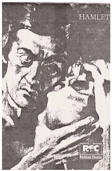 """Andrzej dwa lata po śmierci (z prawej). Plakat promujący """"Hamleta"""" z 1984 roku."""