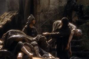 Zbieracze ciał zachęcali w średniowieczu biedotę do wynoszenia ciał małymi napiwkami.