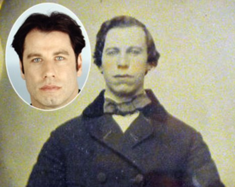 John Travolta ebay ambrotype photo