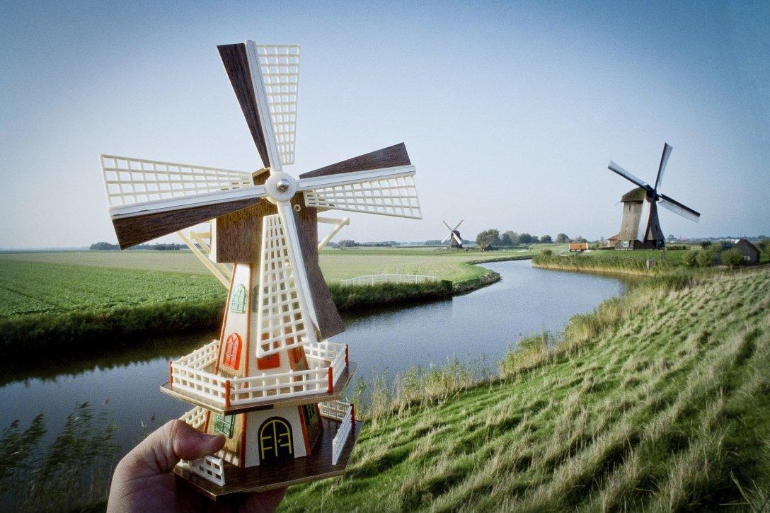Elektryczny wiatrak, Alkmaar, Holandia