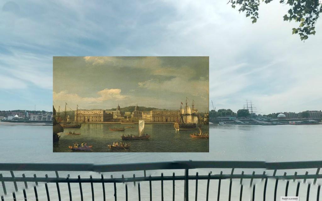 Widok na Greenwich, 1750-1752, Canaletto