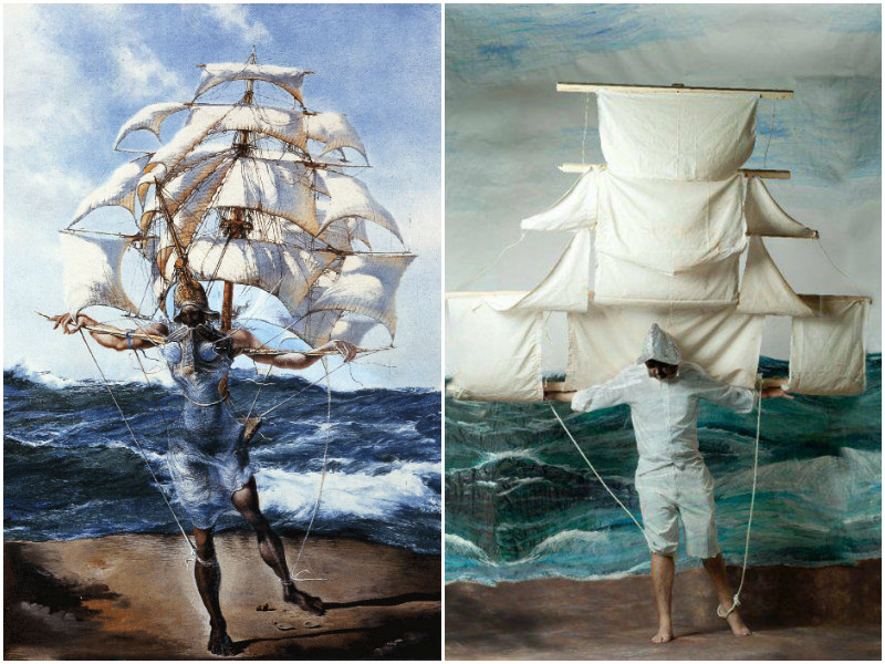 """Statek"", Salvador Dali"