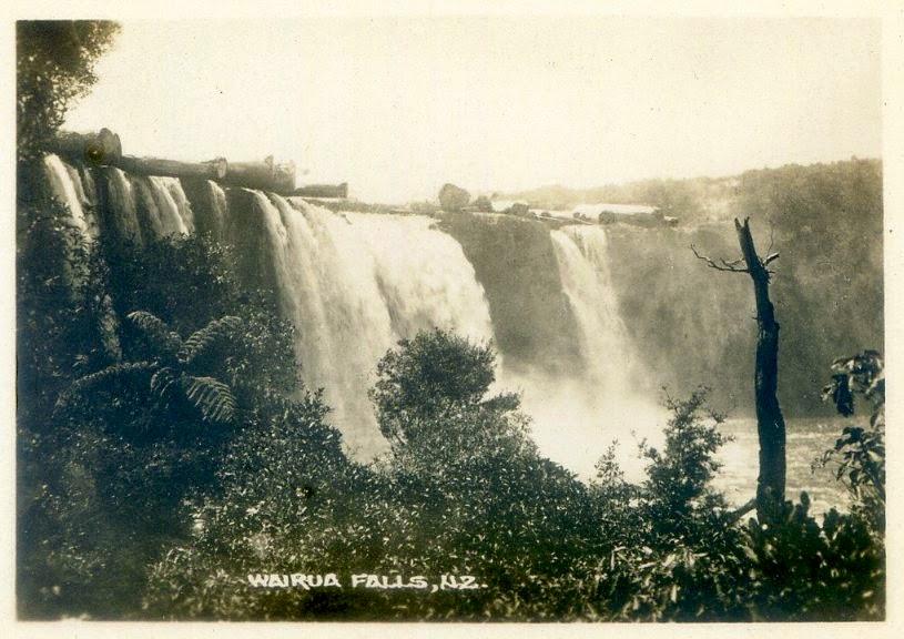 Wodospad Wairua około 1880 r.