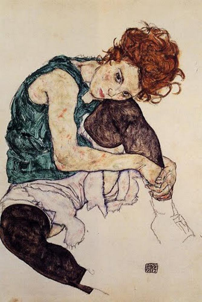 seated-woman-with-bent-knee-egon-schiele
