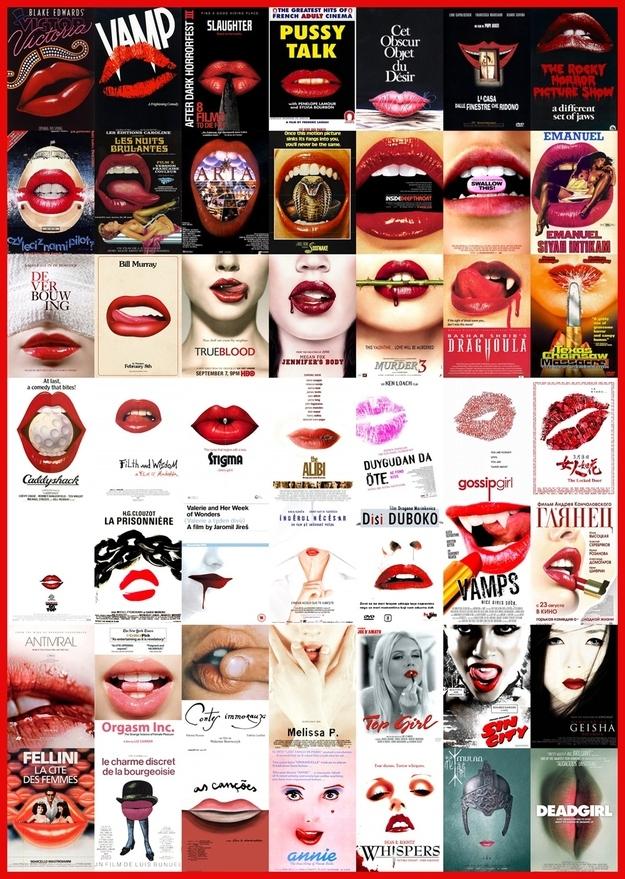 Krwistoczerwone usta