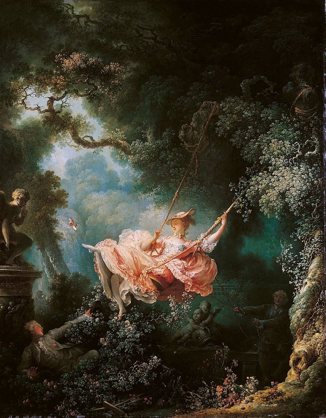 """Huśtawka"", Jean-Honoré Fragonard, 1767-1778"