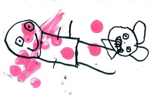Dziecięce rysunki potrafią być przerażające