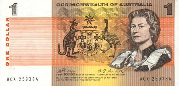 1 dolar australijski. Wiek: 38 lat