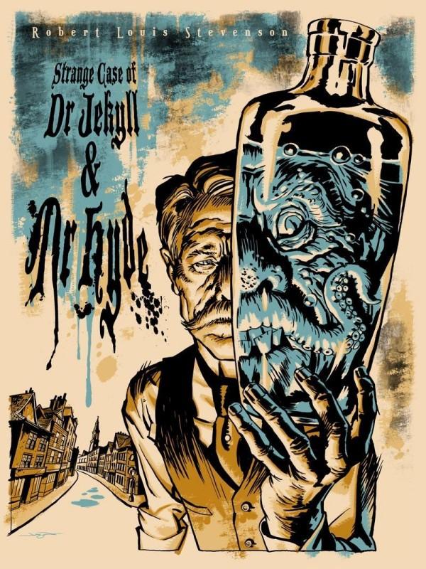 Dr Jekyll i pan Hyde niczym plakaty starych horrorów