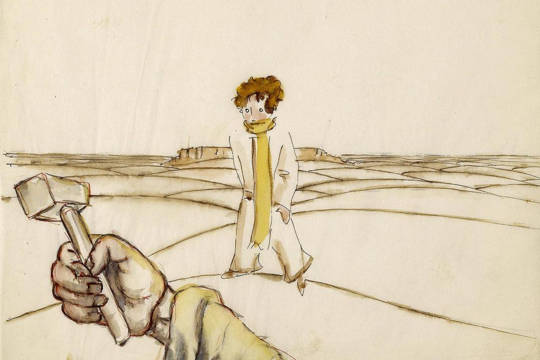 Ta, jak i następne ilustracje w tym wpisie, to wczesne szkice autorstwa samego Exupéry'ego