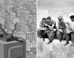 Simpsonowie parodiują znane zdjęcia