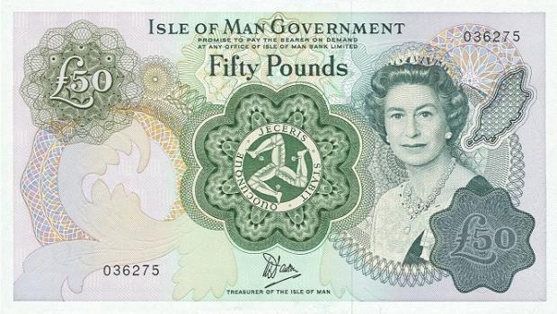 50 funtów z Wyspy Man. Wiek: 51 lat