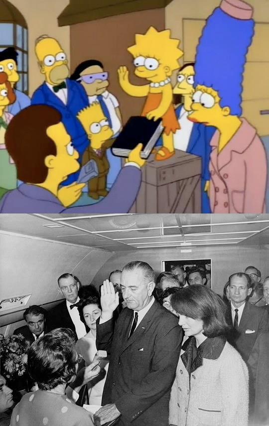 Zaprzysiężenie Lyndona Johnsona po zabójstwie JFK