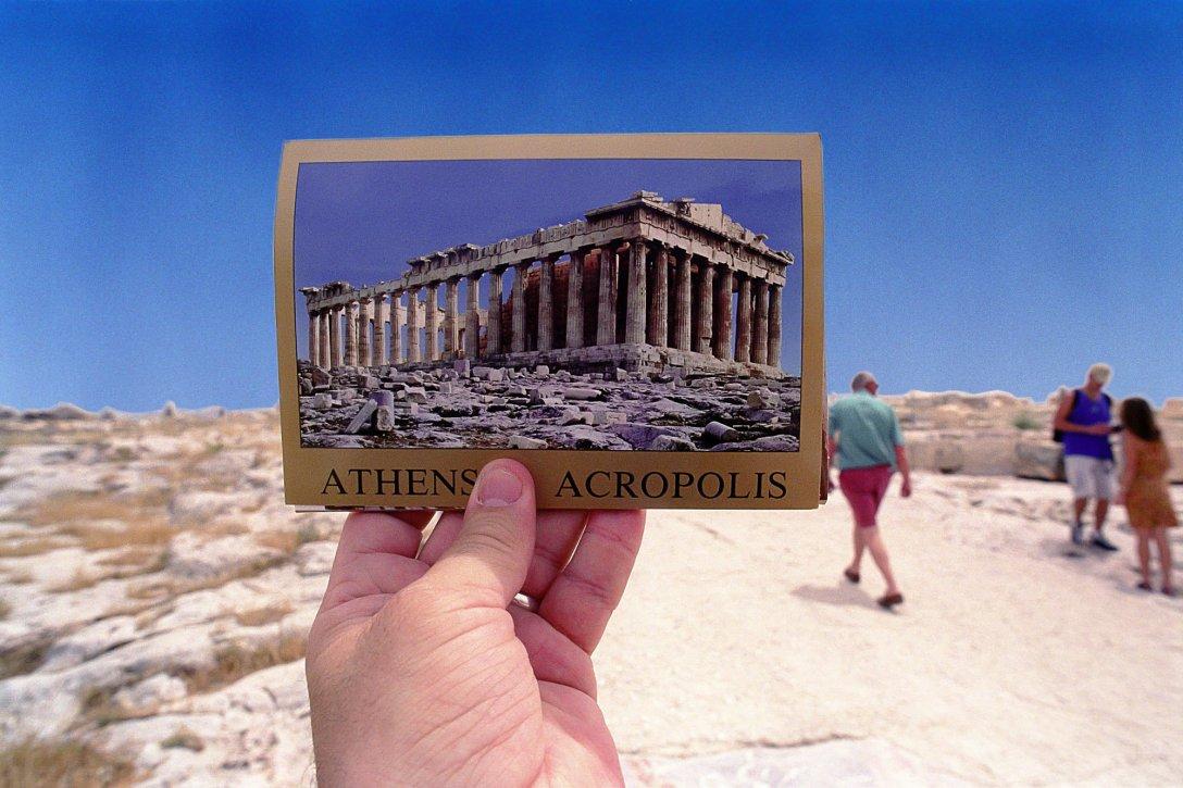 Pocztówka z Akropolu, Ateny, Grecja