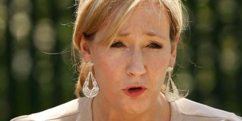 Rowling w uniesieni podczas lektury Pottera