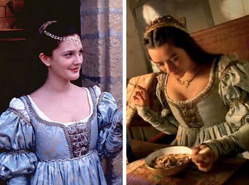 """Po lewej Drew Barrymore w """"Długo i szczęśliwie"""", a po prawej anonimowa aktorka w reklamie płatków śniadaniowych"""