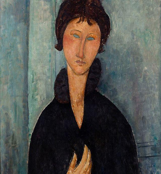 Amedeo Modigliani (1884-1920). Femme aux yeux bleus. Huile sur toile, vers 1918. Paris, musée d'Art moderne. © Musée d'Art Moderne / RogerViollet