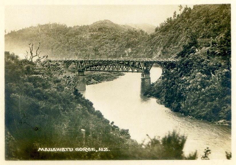 Wąwóz Manawatu około 1880 r.