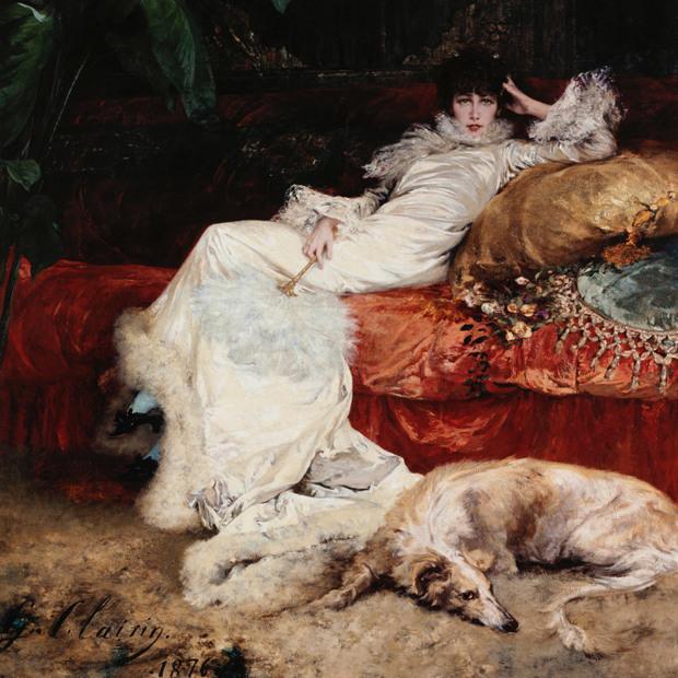Georges Clairin (1843-1919). Portrait de Sarah Bernhardt (1844-1923). Peinture à l'huile, 1876. Musée des Beaux-Arts de la Ville de Paris, Petit Palais. © Petit Palais / Roger-Viollet
