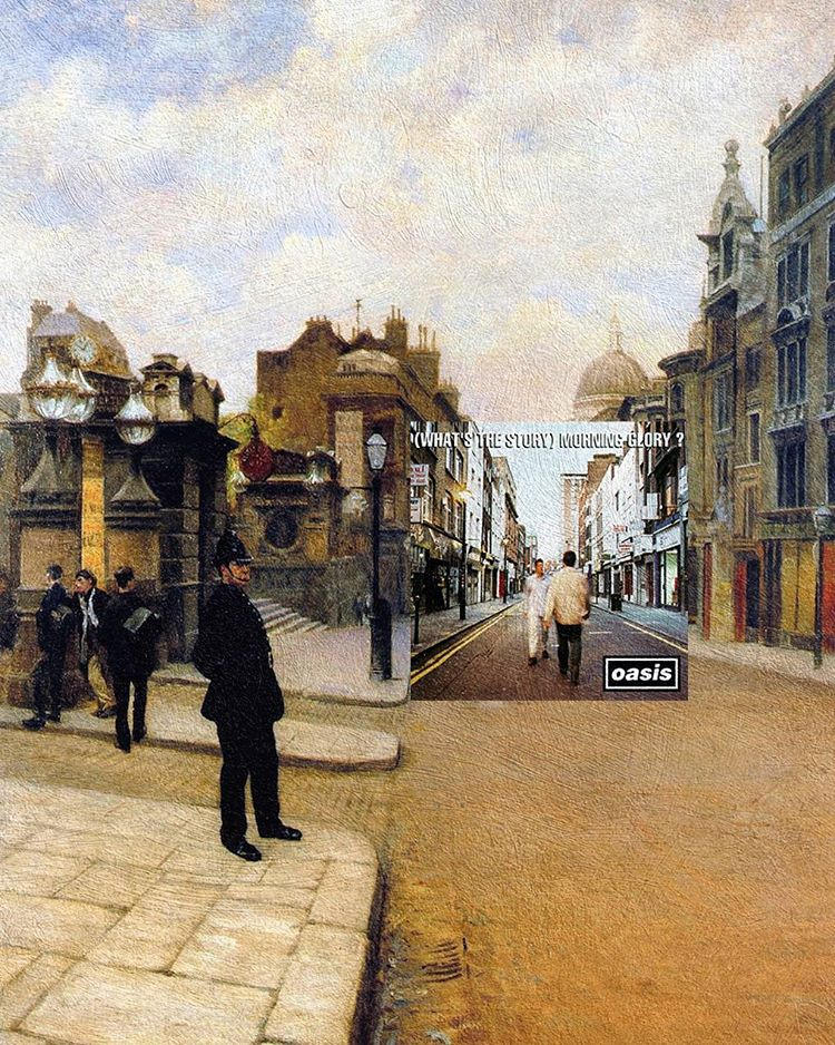 What the Story Morning Glory?, Oasis + La domenica a Londra, Giuseppe de Nittis