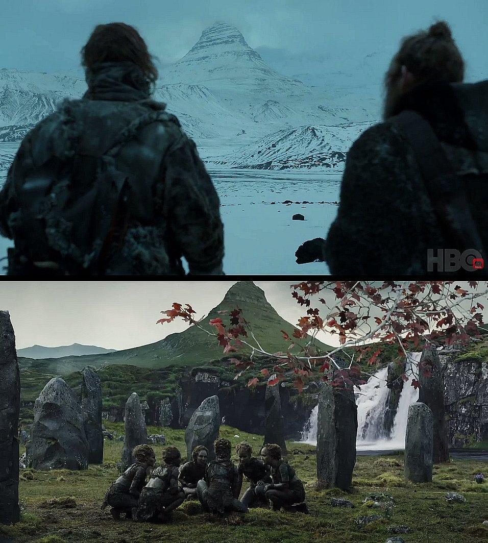 Jeśli wygląda znajomo, to dlatego, iż jest to szczyt Kirkjufell na Islandii.