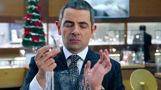 Rowan Atkinson in Love Actually.