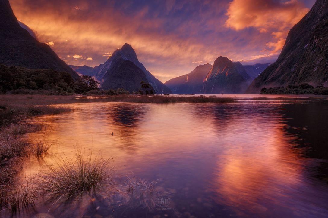 Rzeka Arthur, Mitre Peak i Milford Sound (fot. Arthur Hoffman)