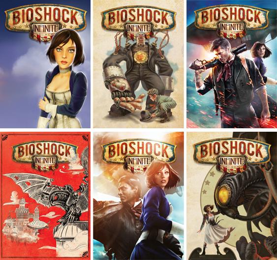 Alternatywne wersje pierwszej strony okładki BioShock Infinite