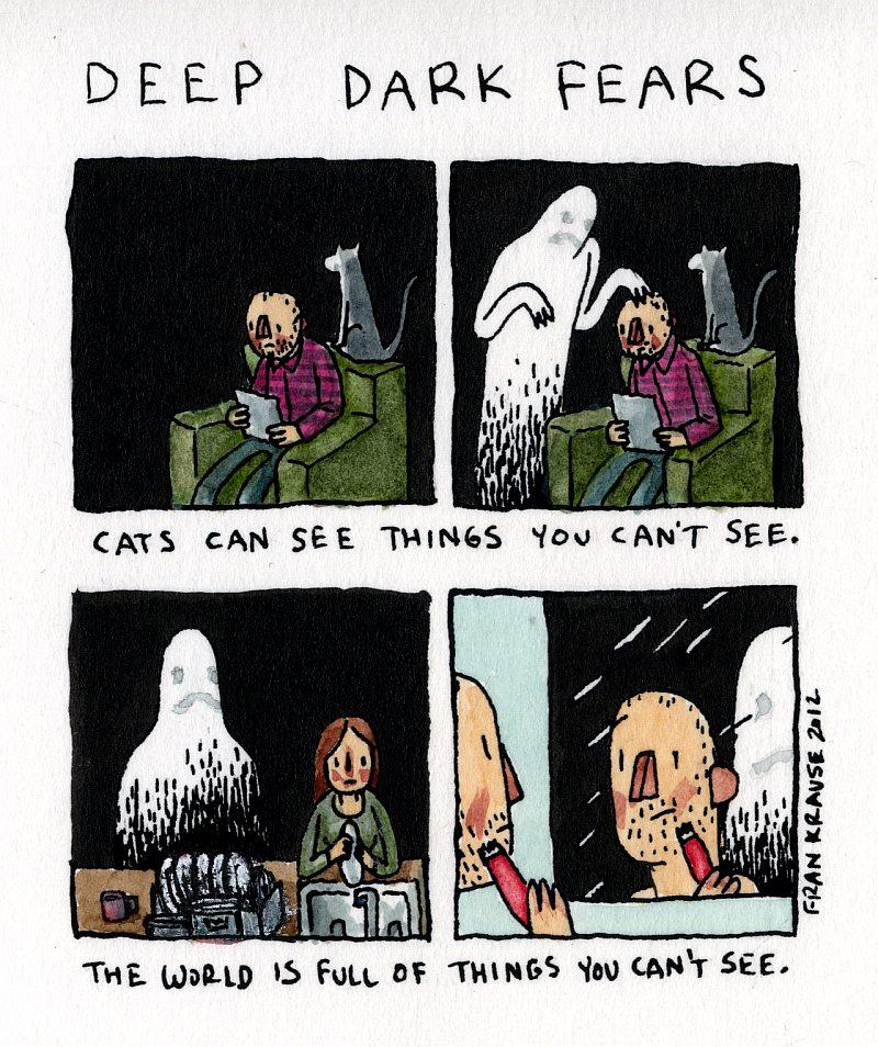 Mówi się, że koty potrafią dostrzec rzeczy, których my nie widzimy. Świat pełen jest takich rzeczy.