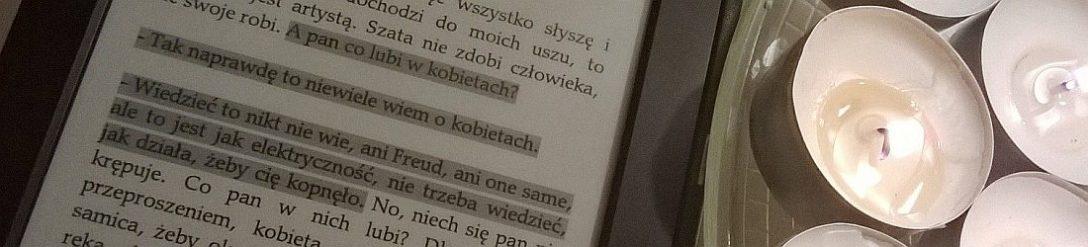 Cień Wiatru, Carlos Ruiz Zafòn (tu sporo kreatywności - zaznaczenie na Kindle'u, highlighter w wersji light)