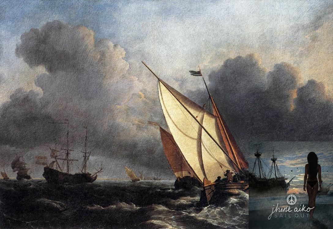 Sail Out EP, Jhene Aiko + Okręty na wzburzonym morzu, Willem Van Develde młodszy