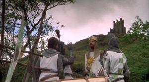 """Jak widać na załączonym obrazku, Patsy nie kłamał. A zdanie """"To tylko makieta"""" było jedyną kwestią Gilliama w filmie."""