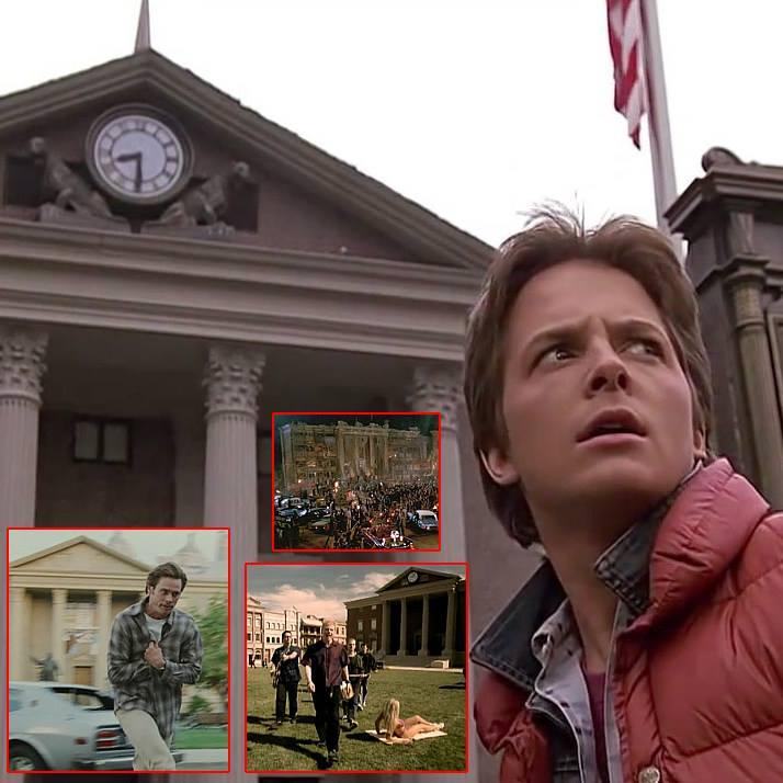 """Po lewej Jim Carrey, obok zespół The Offspring, a nad nim kadr z """"Ucieczki z Los Angeles"""""""
