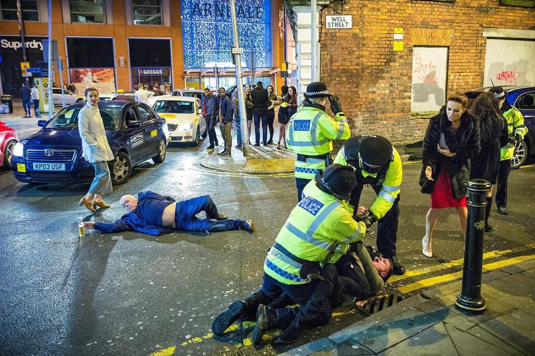 Sylwester w Manchesterze (fot. Joel Goodman)