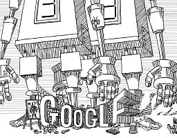 Stanisław Lem a logo Google