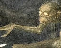 Wiele twarzy ilustrowanego Golluma