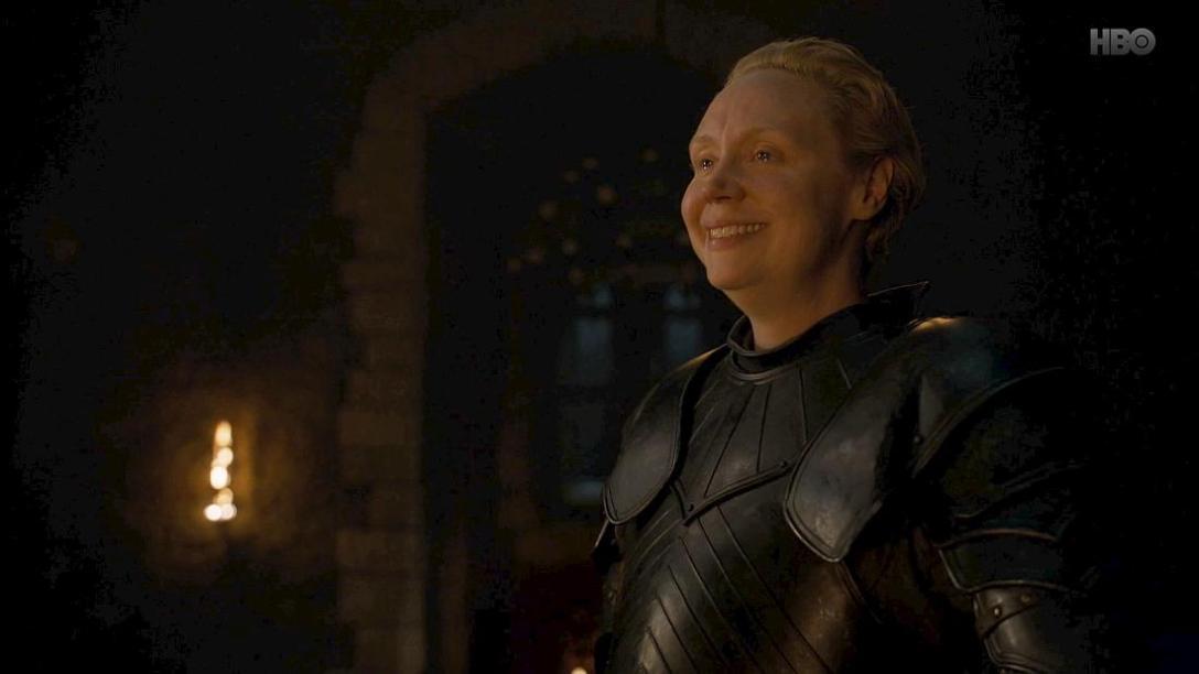 Tak piękne, jak pierwszy uśmiech Brienne. W najlepszej scenie odcinka, z udziałem jej i Jaime'a oczywiście.