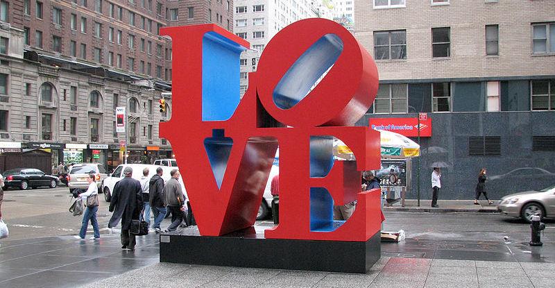 Robert Indiana, LOVE (fot. Domena publiczna)