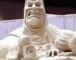 Popkulturowe rzeźby piaskowe