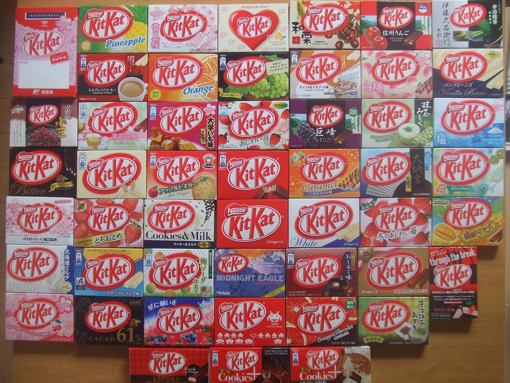 Kit Kat w kilkudziesięciu odmianach