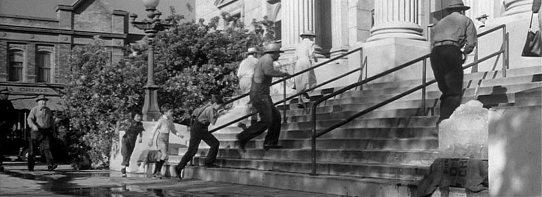 "Scena z filmu ""Zabić drozda"" z 1962 roku"