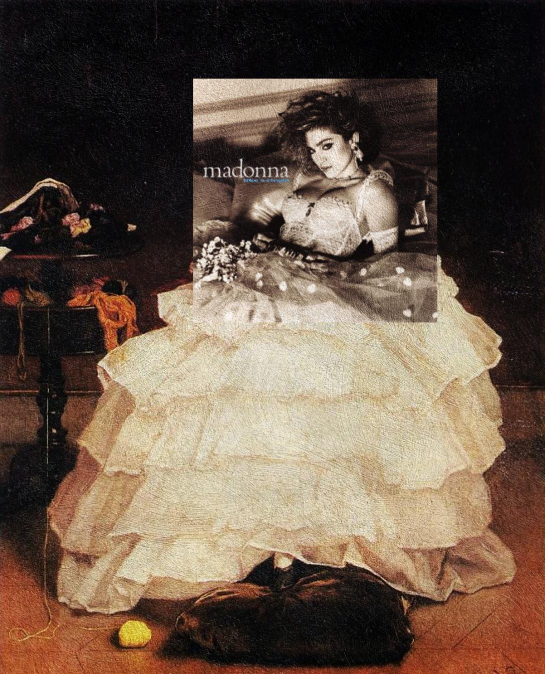 Like a Virgin, Madonna + Młoda kobieta pogrążona w lekturze, Alfred Stevens