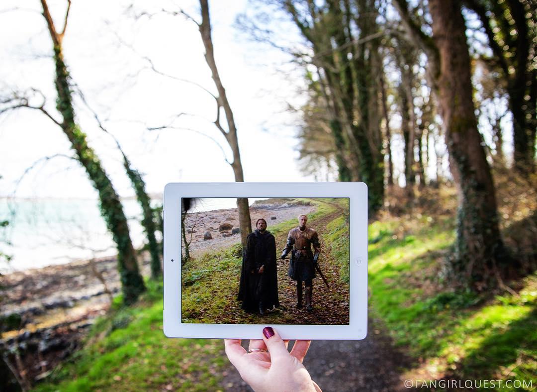Jaime i Brienne niedaleko Belfastu (fot. Fangirl Quest)